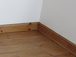 Recliamed Pine Floor and Skirting Board