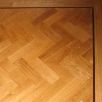 Oak Herringbone with Wenge inlay